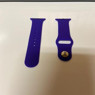 アップルウォッチ(Apple Watch)のラバーベルト:Apple Watch(38‐40㎜、むらさき)(腕時計)