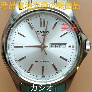 カシオ(CASIO)のラ78. 美品 カシオ クォーツ時計  新品電池 稼働品 デイ・デイト(腕時計)
