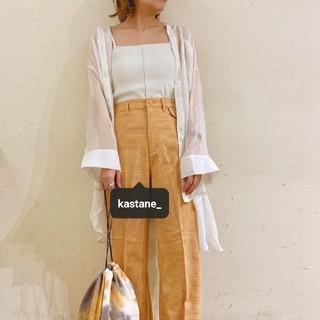 Kastane - カスタネ チェックパンツ オレンジ