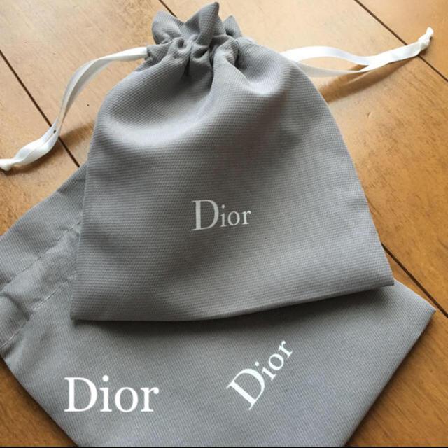 Christian Dior(クリスチャンディオール)の❤️ディオール ミニ巾着 1枚 ポーチ 新品未使用 レディースのファッション小物(ポーチ)の商品写真