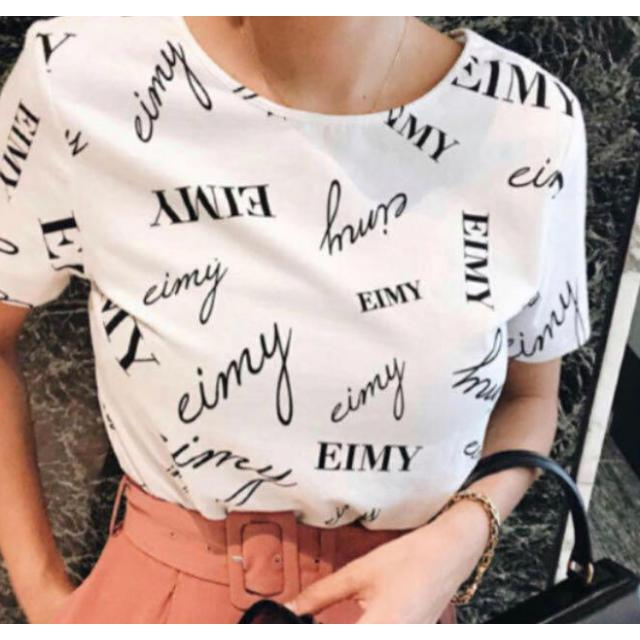 eimy istoire(エイミーイストワール)の【eimy】ロゴTシャツ ホワイト レディースのトップス(Tシャツ(半袖/袖なし))の商品写真