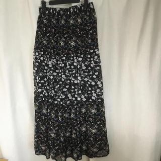 しまむら - ■花柄ロングスカート