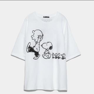 ZARA - ZARA ピーナッツ スヌーピー Tシャツ M