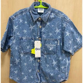 GU - 新品★KIDS 男女兼用 デニムシャツ 半袖 STUDIOSEVEN 120cm