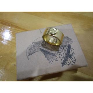 ウイングロック 全金(K18無垢)イーグルスタンプリング  サイズ17号