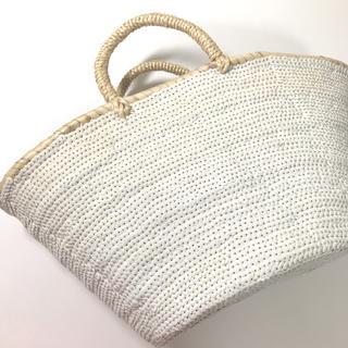 ファティマモロッコ(Fatima Morocco)のファティマモロッコ スパンコール カゴバッグ(かごバッグ/ストローバッグ)