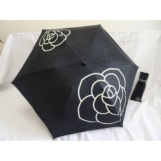 カメリア柄 日傘 折り畳み