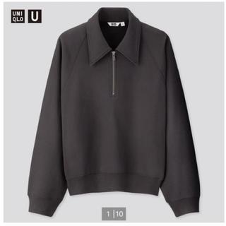 UNIQLO - UNIQLO U スウェットハーフジップシャツ