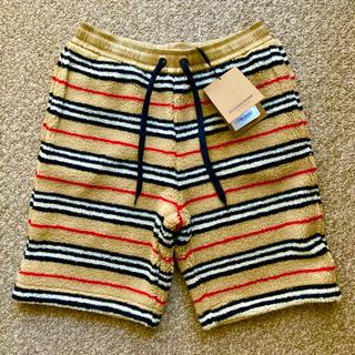 バーバリー(BURBERRY)の新品【 BURBERRY 】Icon Stripe Fleece Shorts(ショートパンツ)