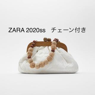 ZARA - 完売品 2020ss ZARA クラスプ留め メランジファブリッククロスボディ