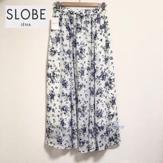 IENA SLOBE - 新品❗️初お値下げ!スローブイエナ ロングスカート 花柄 フレア シアー