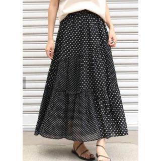 IENA - ヌキテパ 可愛いドット柄スカート
