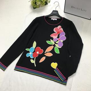 LEONARD - 美品 レオナール  LEONARD 花柄 カシミヤ トップス セーター
