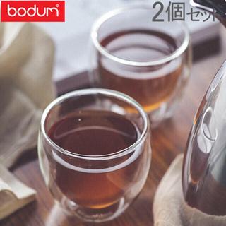ボダム(bodum)の【新品、未使用】ボダム PAVIMA ダブルウォールグラス 2個セット(グラス/カップ)