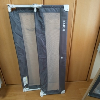 カトージ(KATOJI)のKATOJI カトージ ポータブルベッドガー グレー 130cm 2本組(ベビーフェンス/ゲート)