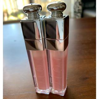 ディオール(Dior)のディオール アディクト リップ グロウ 001 ピンク 2本(リップグロス)