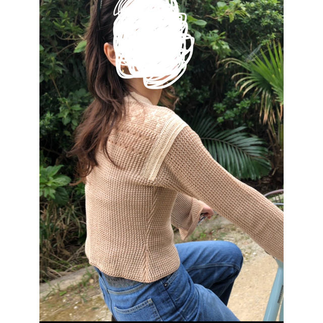 mame(マメ)の※着画あり mame kuroguchi ベージュ ronherman レディースのトップス(ニット/セーター)の商品写真