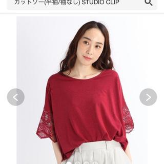 STUDIO CLIP - studio CLIP 半袖 カットソー 袖 透け