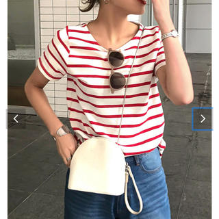 コウベレタス(神戸レタス)の神戸レタス コットン100% 半袖カットソー Tシャツ ストライプ M(Tシャツ(半袖/袖なし))