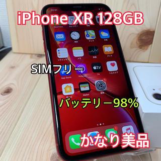 アップル(Apple)の【A】【98%】iPhone XR 128 GB SIMフリー Red 本体(スマートフォン本体)