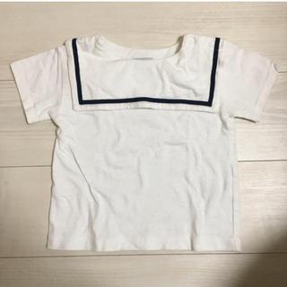 マーキーズ(MARKEY'S)のOCEAN & GROUND セーラーTシャツ 90cm 白(Tシャツ/カットソー)