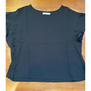 ディスコート(Discoat)のDiscoat ディスコート フリル Tシャツ ブラック M(Tシャツ(半袖/袖なし))