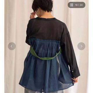 SCOT CLUB - eimee law♡リネンデザインシャツ黒