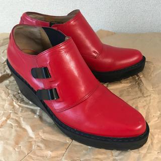 スリーワンフィリップリム(3.1 Phillip Lim)の3.1PHILIP LIM フィリップリム 革靴 レザー シューズ 赤(ローファー/革靴)