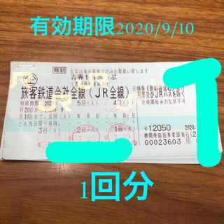 青春18きっぷ 2020年夏 1回 1日 ※値下げ&普通郵便での発送です!(鉄道乗車券)