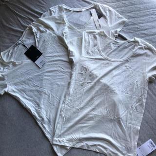 マウジー(moussy)のmoussy AZUL 新品未使用 Tシャツ ホワイト 3枚セット(Tシャツ(半袖/袖なし))
