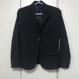 ユニクロ(UNIQLO)のスーツ ジャケット 黒 ユニクロ 背抜き 夏用(テーラードジャケット)