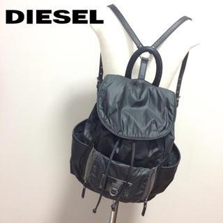 ディーゼル(DIESEL)のDIESEL 2way リュック 黒 ブラック ポシェット(リュック/バックパック)