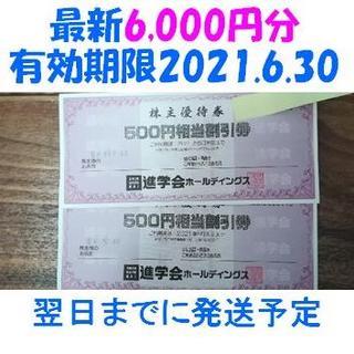 最新 進学会ホールディングス 株主優待券 6,000円分