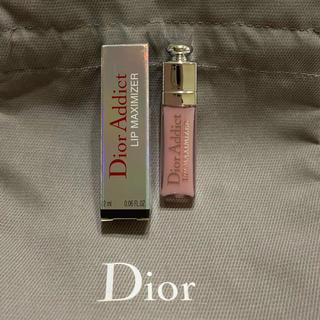 ディオール(Dior)のディオール♡アディクトリップマキシマイザー001  ピンク(リップグロス)