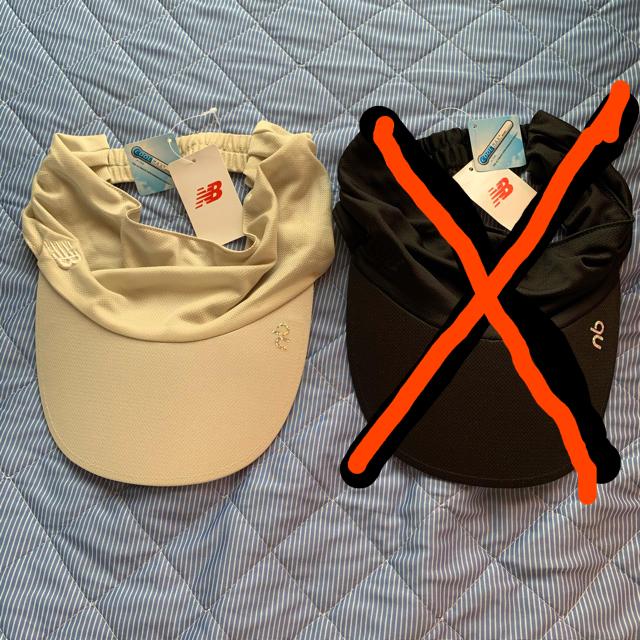 New Balance(ニューバランス)のニューバランス サンバイザー メンズの帽子(サンバイザー)の商品写真