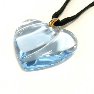 バカラ(Baccarat)のバカラ ネックレス美品  ライトブルー×黒(ネックレス)