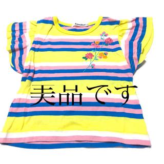 ファミリア(familiar)のファミリアfamiliar 100cm カラフルボーダーTシャツ 女児 女の子(Tシャツ/カットソー)