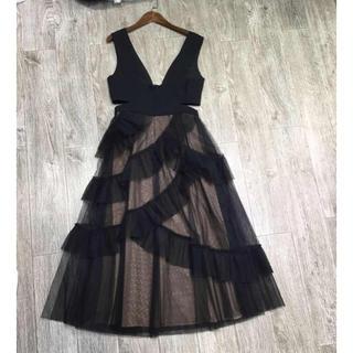 ビーシービージーマックスアズリア(BCBGMAXAZRIA)の❤️BCBG 2020新作 新品 黒ワンピース ドレス 綺麗(ひざ丈ワンピース)