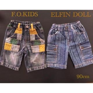 エフオーキッズ(F.O.KIDS)のELFIN DOLL & F.O.KIDS  ハーフパンツ 90cm(パンツ/スパッツ)