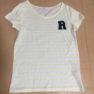 イーハイフンワールドギャラリー(E hyphen world gallery)の黄色×白 ボーダー Tシャツ(Tシャツ(半袖/袖なし))