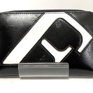フルラ(Furla)のフルラ 財布 黒×白 ラウンドファスナー(財布)