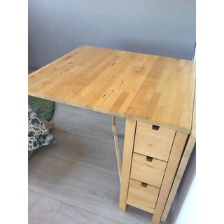 イケア(IKEA)のIKEA 折りたたみテーブル ☆取りに来ていただける方限定です☆(ダイニングテーブル)