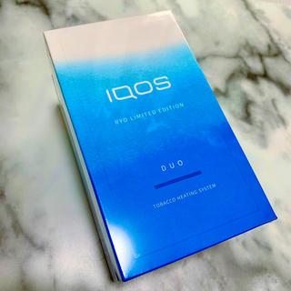 アイコス(IQOS)の【新品未登録】 iQOS3 DUO 涼モデル 数量限定 アクアブルー (タバコグッズ)