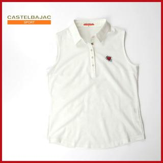 カステルバジャック(CASTELBAJAC)のカステルバジャック ハート刺繍◎ノースリーブポロシャツ(ポロシャツ)