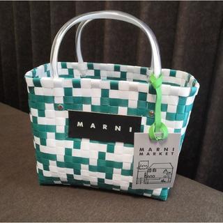 残2【即納未使用】MARNI LOGO ピクニックバッグ/ホワイトグリーン