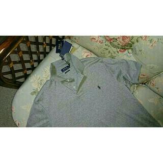 ラルフローレン(Ralph Lauren)の新品☆ラルフローレン ポロシャツ US L  グレー(ポロシャツ)