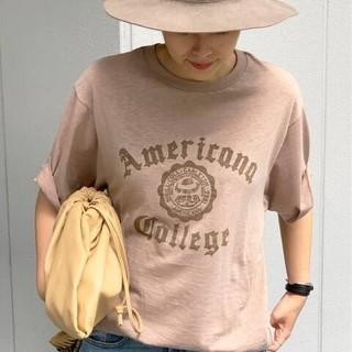L'Appartement DEUXIEME CLASSE - 【AMERICANA/アメリカーナ】別注College Tシャツ