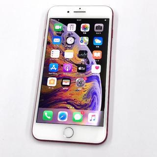 Apple - SIMフリー iPhone7Plus 128GB レッド 〇判定 バッテリー新品