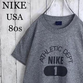 NIKE - 【鬼レア】 良品 ナイキ USA 80s 紺タグ アスレチックデプト Tシャツ
