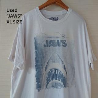 オールドネイビー(Old Navy)の☆US古着JAWS/シネマ/プリントTシャツ/XL(Tシャツ/カットソー(半袖/袖なし))